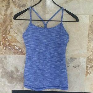 lululemon athletica Tops - Blue lululemon power y tank